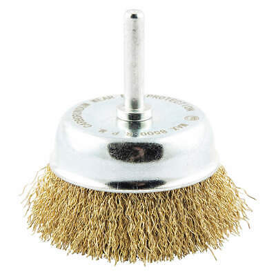 """GRAINGER APPROVED Cup Brush,Wire 0.014"""" dia.,Brass, 78072705313"""