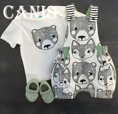 US Newborn Infant Baby Kid Boy Summer Outfit Top Shirt+Strap Short Pants Clothes