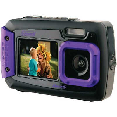 Coleman 2V9WP-P Duo2 Dual-Screen Waterproof Digital Camera 20.0 MP - Purple