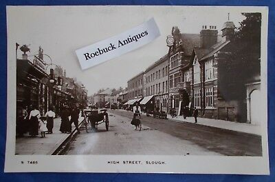 Vintage Postcard High Street Slough Berkshire Kingsway WH Smith