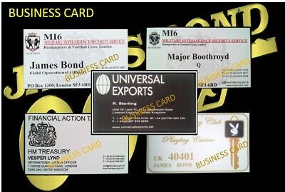 James Bond Oo7.. Collector Business Cards
