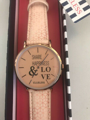 Femme Happy Clueless Rose Abricot Montre Love Neuve Bracelet 34LjA5Rq