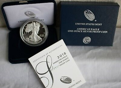 2018 W AMERICAN SILVER EAGLE PROOF DOLLAR US Mint ASE Coin with Box and COA