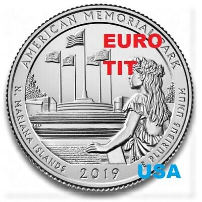 QUARTER  DOLLAR AMERICAN MEMORIAL PARK COMMEMORATIVE USA   2019      disponible