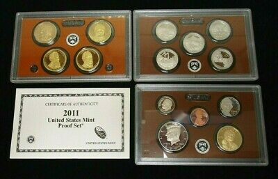 2011-S Us Mint ***proof*** Coin Set 14 Coins (No Outer Box)