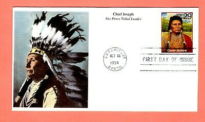 1994 #2869f 29c Chief Joseph - Legends West Mystic cachet FDC