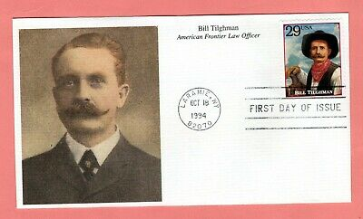 1994 #2869r 29c Bill Tilghman - Legends West Mystic cachet FDC