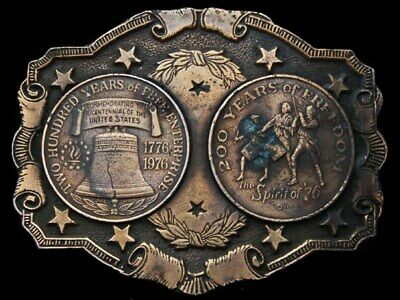 Kc21121 Very Cool Vintage 1976 **200 Years Of Freedom** Bicentennial Belt Buckle