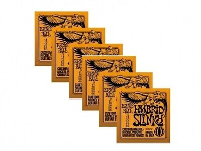 6 Sets Ernie Ball 2222 Hybrid Slinky Nickel Wound Electric Guitar Strings 9-46