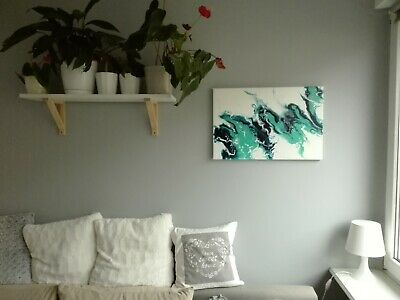 Acrylic abstract painting Pouring Fluid Art original