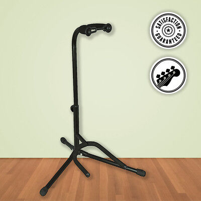 Musician's Gear Electric, Acoustic and Bass Guitar Stand Black - Perfect Support