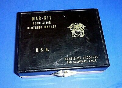Vintage MAR-KIT U.S.N. Regulation Clothing Marker Kit - Military - Navy