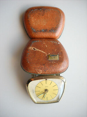 Vintage Travel Alarm Clock Schatz 2 Jewels - Made in Germany