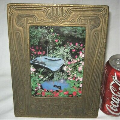 Antique L.c.t. Tiffany Studios Ny Usa Bronze Chinese Picture Photo Art Frame Lct