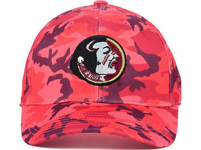info for 76f2d 943b7 Florida State Seminoles Top of the World NCAA Red Camo Flex fit Cap Hat  size M