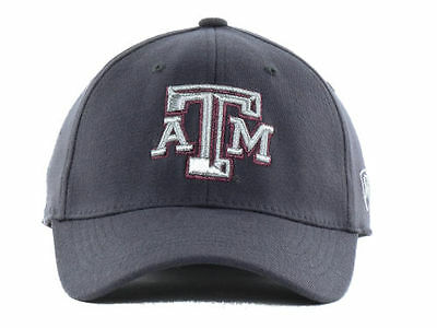 new product cb3f9 dd9fb Texas A M Aggies Top of the World NCAA Charcoal Flex Fit hat cap one size