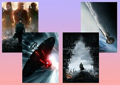 STAR TREK Into Darkness Kirk, Spock, Bones A5 A4 A3 Textless Movie & DVD Posters