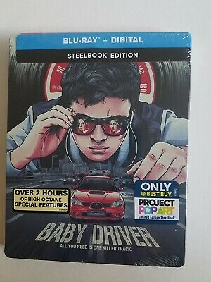 BABY DRIVER STEELBOOK (Blu-Ray + Digital Copy) Special Edition Project Pop Art