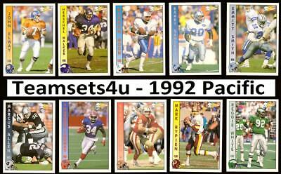 1992 Pacific Football Set *** Pick Your Team *** See Description for Checklist