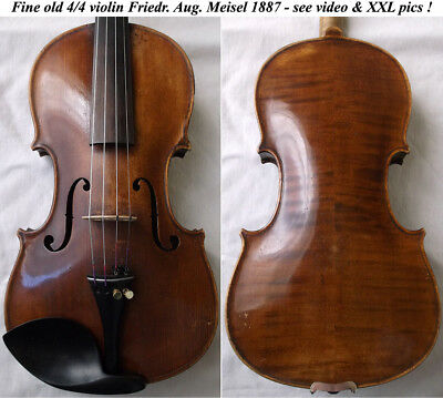 OLD GERMAN VIOLIN F. A. MEISEL 1887 - see video ANTIQUE MASTER バイオリン скрипка 059