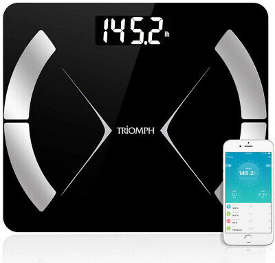 Triomph Bluetooth Smart Body Fat Scale With IOS/Android App - Digital Body Compo