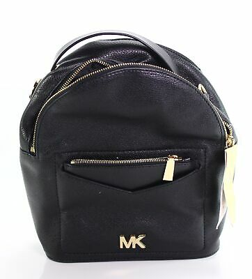 ffb4cc74bd01 Michael Kors NEW Black Leather Jessa Small Convertible Backpack Bag $268-  #058