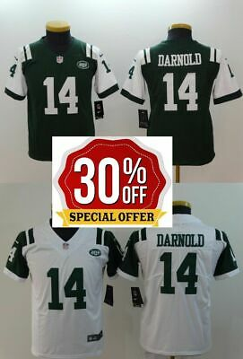 Nice MENS NEW YORK Jets Sam Darnold Green Game Jersey $39.95 | PicClick