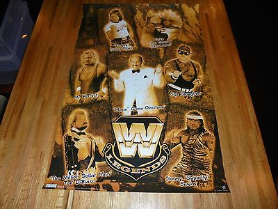 WWE Legends Poster 22 X 34 WWF SUPER COOL Mean Gene Curt Henning Ricky Steamboat