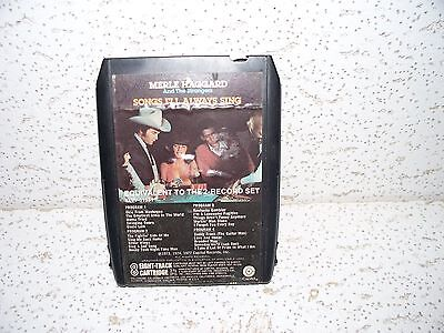 Responsible Merle Haggard My Love Affair With Trains 8 Track Tape 8xt 511544 Sale Price Music