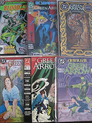 Green Arrow Annuals 1,2,3,4,5,6. Suggested For Mature Readers. Dc.1988-1993