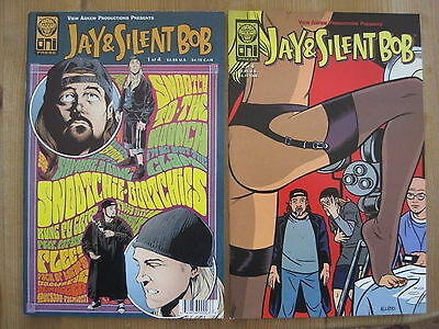 JAY & SILENT BOB : #s 1 & 2 of 4 ISSUE SERIES by KEVIN SMITH & FEGREDO. 1998.ONI