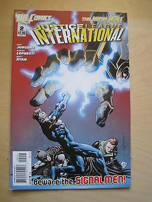 JUSTICE LEAGUE INTERNATIONAL  #  2.  1st PRINT.  THE NEW 52. DC. 2012