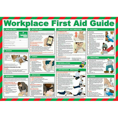 Workplace First Aid Guide Poster 59cm x 42cm Safety First Aid A600T