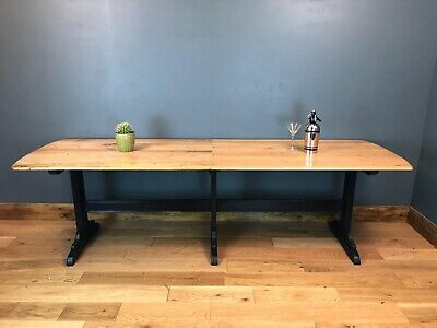 RUSTIC Large Ercol TABLE Refectory Upcycled KITCHEN DINING Shabby Chic Elm