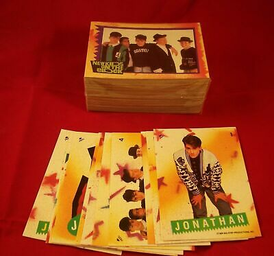 1989 Topps New Kids On The Block Complete Trading Card Set 88 Cards 11 Stickers