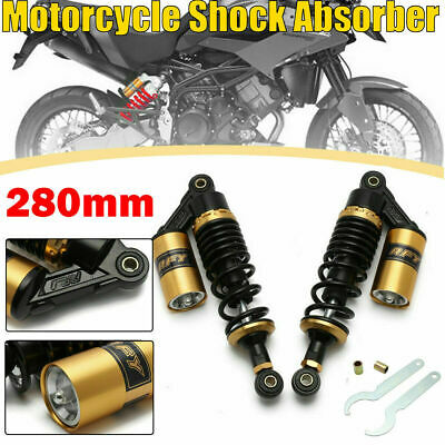 black RFY 1pair Universal 11280mm Motorcycle Air Shock Absorber Rear Suspension for Yamaha Motor Scooter ATV