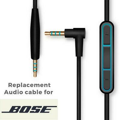UK Replacement Audio Cable Cord Fit Bose QuietComfort 25 Headphone with MIC QC25