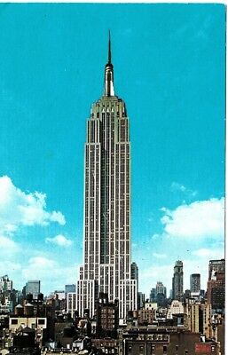 1960's Postcard Empire State Building NYC