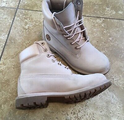 """f15fb6a6a00 TIMBERLAND WOMEN'S SZ 7 Premium Leather Boots 6"""" Ankle Pink Metallic  Limited Ed"""