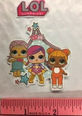 Teacher's Pet LOL DOLL fabric iron-on applique NO SEW 1 surprise girl HANDMADE