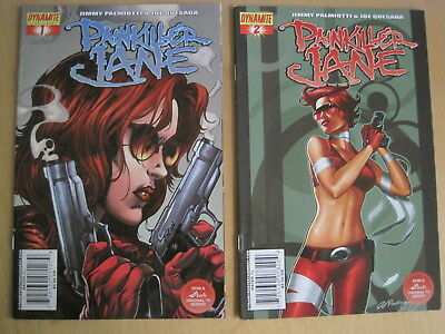 PAINKILLER JANE : SET of #s 1 & 2 by PALMIOTTI & QUESADA. ALT CVRS.DYNAMITE.2007