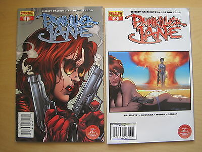 PAINKILLER JANE : SET of #s 1 & 2 by PALMIOTTI & QUESADA. DYNAMITE.2007