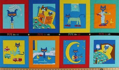 Pete The Cat Fabric Panel Premium Cotton Children Cat Kitten