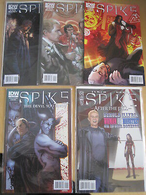 SPIKE, bundle of 5 IDW issues : 3, 5, 7 (2010) ; After The Fall 4 ; Devil Y K 1