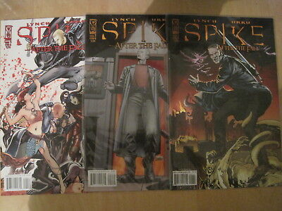 """SPIKE (BUFFY) : """"AFTER the FALL"""" : issues 1,2,4 of the 4 ISSUE SERIES. IDW. 2008"""
