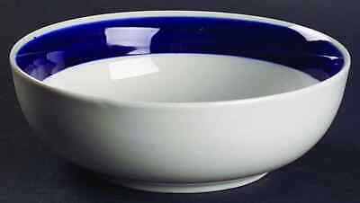 Gibson Designs BASIC LIVING III-COBALT (BLUE & WHITE) Soup Cereal Bowl 4727181
