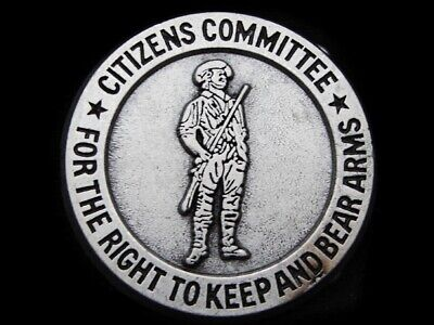 LF21122 1970s CITIZENS COMMITTEE FOR **THE RIGHT TO KEEP AND BEAR ARMS** BUCKLE