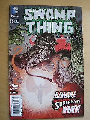 SWAMP THING  # 20  by  CHARLES SOULE.   1st PRINT. THE NEW 52. DC. 2013