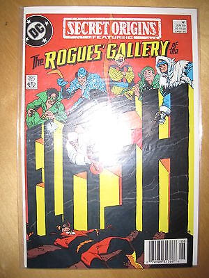 The ROGUES GALLERY of The FLASH : SECRET ORIGINS 41. 1st  PRINT. DC. 1989