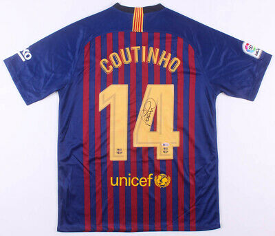 a3477aab9 Philippe Coutinho Signed FC Barcelona Nike Jersey Soccer Football  Autographed